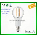 TD-E14-G45-4W dimmable led filament bulb